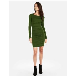 Express long sleeve ruched long sleeve dress